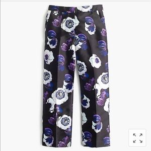 J. Crew black floral poppy pants
